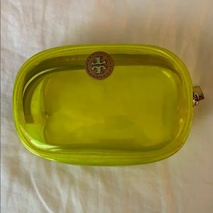 Lime green Tory Burch cosmetic bag